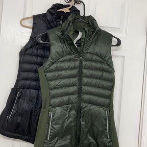 Lululemon Down Vests Size 4 DKOV & BLK